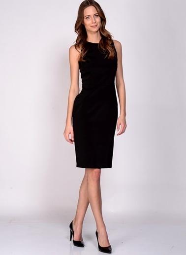 House Of Camellia Kolsuz Düz Elbise Siyah